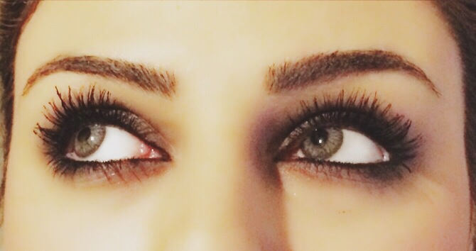no false lashes, i have used here Maybelline colossal volume express mascara and i added hair fibers to it, see the volume